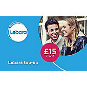 Lebara £15 mobile Top Up