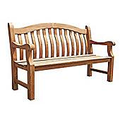 Balmoral Wooden Garden Bench, FSC Teak, 3 seater