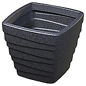 Strata Grey Granite Effect Plastic Square Trojan Planter
