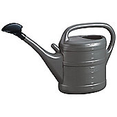 10L Anthracite Grey Plastic Garden Watering Can with Rose