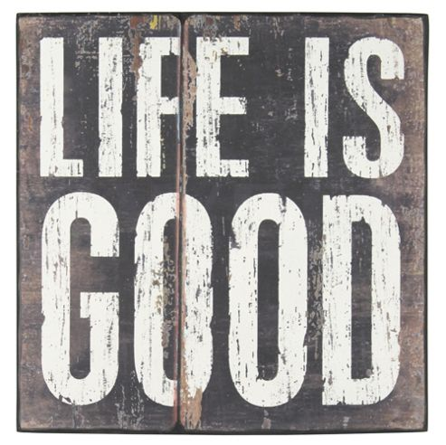 Pacific Lifestyle 'Life Is Good' Painted on Canvas Art