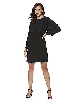 F&F Chiffon Cape Dress - Black