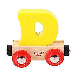 Bigjigs Rail Rail Name Letter D (Yellow)