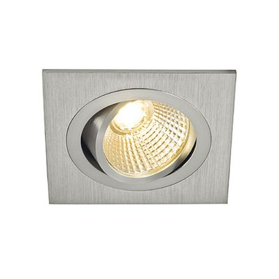 Tria LED Square Set Downlight Aluminium Brushed 6W Including Driver Retaining Springs