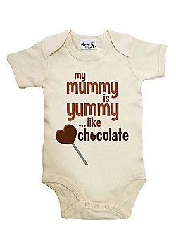 Dirty Fingers My Mummy is yummy like chocolate Baby Bodysuit - Cream