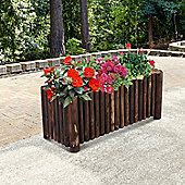 Outsunny Raised Flower Wooden Planter Container Box w/ 4 Feet (100L x 40W x 40H (cm))