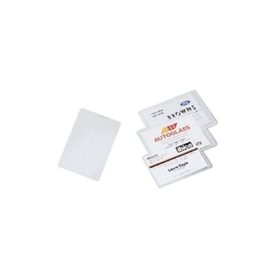 Acco GBC Laminating Pouch 67x99mm Badge 250micron Pack of 100 3743177