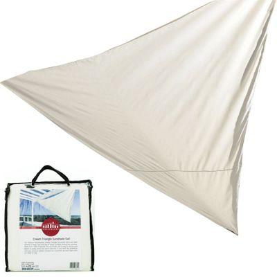 Sun Shade Sail Garden Patio Canopy 98% UV Block Cream Triangle