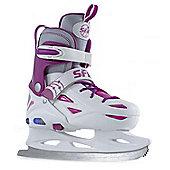 SFR Ice Skates - Eclipse Lights White/Pink - White