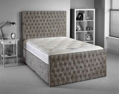 Luxan Provincial Bed Set - Silver - Single 3ft - No Drawers