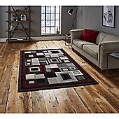 Hudson Square Black & Red Runner - 60x220cm
