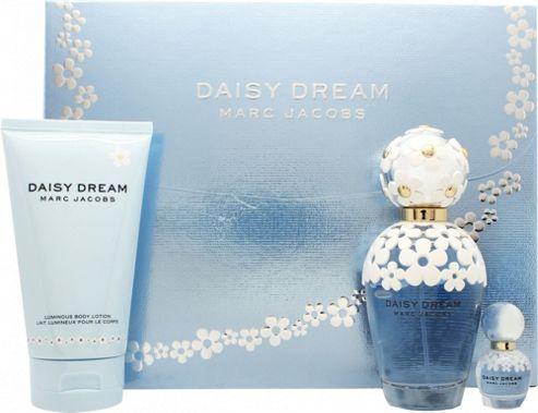 Marc Jacobs Daisy Dream Gift Set 100ml EDT + 150ml Body Lotion + 4ml EDT For Women