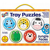 Galt Toys Tray Puzzles (Jungle Faces)