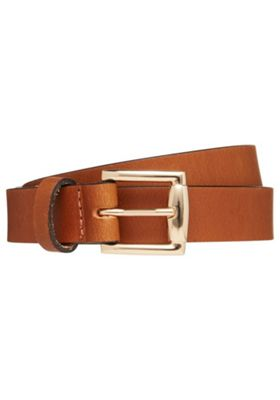 F&F Leather Belt L Brown