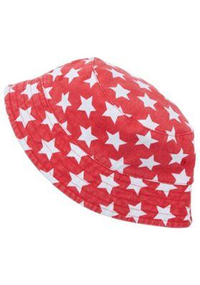 F&F Star Print Bucket Hat Red 3-6 years