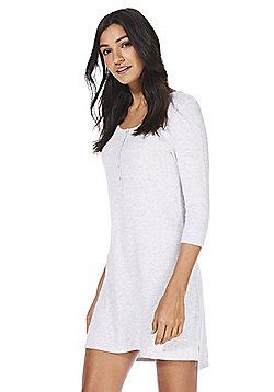 F&F Soft Touch Henley Sleep T-Shirt - Grey