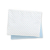 B Baby Bedding Cotton Fitted Moses Basket Sheets- 2 Pack Blue
