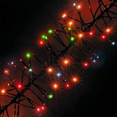480 multi coloured chasing outdoor cluster led christmas lights