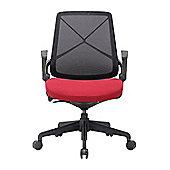 Homcom Ergonomic Mesh Office Chair Medium Back Adjustable Height and Reclining Degree