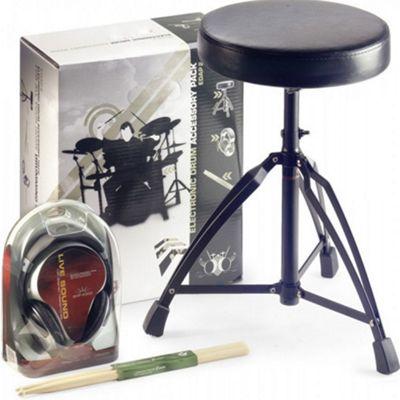Stagg Drum Throne Headphones Sticks Pack