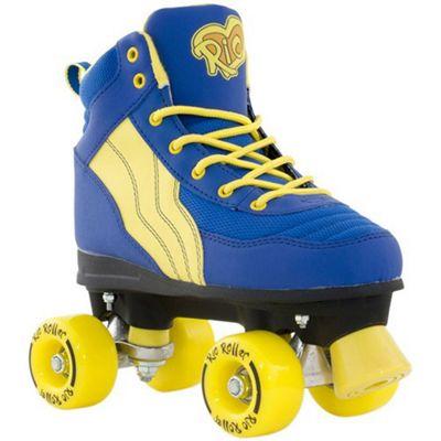 Rio Roller Pure Quad Skates - Blue/Yellow - Size - UK 7
