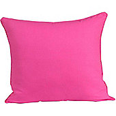 Homescapes Cotton Plain Cerise Scatter Cushion, 30 x 30 cm