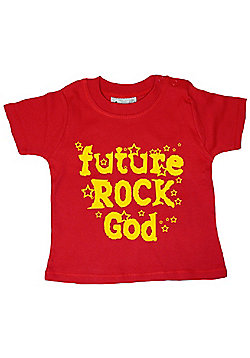 Dirty Fingers Future Rock God Baby T-shirt - Red