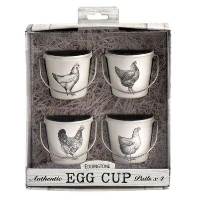 Eddingtons Vintage Hens Egg Cup Pails Set of 4
