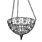 Large Round Hanging Metal Decorative Garden Planter Accessory