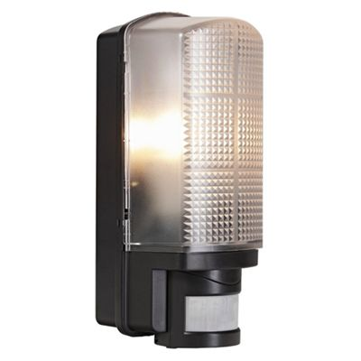 Buy outdoor black bulkhead wall light with adjustable motion sensor outdoor black bulkhead wall light with adjustable motion sensor mozeypictures Image collections