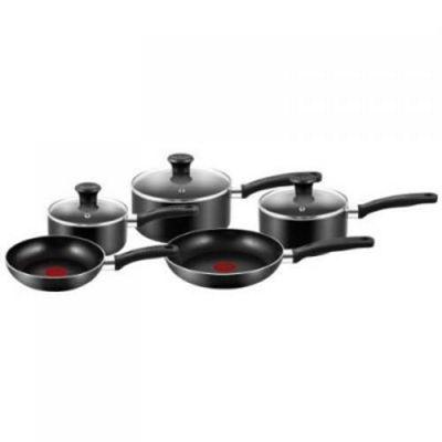 Tefal Essential Thermo-Spot 5 Piece Saucepan Set - Black
