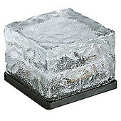 1 x Solar LED White Ice Cube Glass Brick Solalite Lights