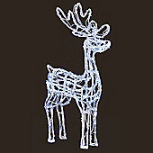 Premier 70cm Acrylic Standing Reindeer With 90 White LEDs (LV161011) Christmas Lights