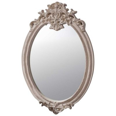 Large Ivory Antique Style Valmont Wall Mirror 3ft6 x 2ft3 (105cm x 69cm)