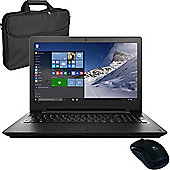 "Lenovo Ideapad 110 80T7000DUK 15.6"" Laptop Intel Pentium N3710 8GB 1TB with Laptop Case & Wireless Mouse"