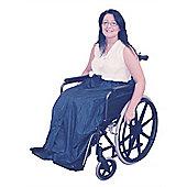 Fleece Lined Wheelchair Cosy in Blue