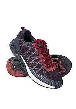 Zakti Girls Kids Low Flying Reflective Running Trainers with Rubber Outsole - Burgundy
