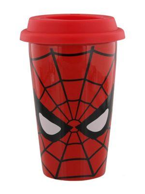 Marvel Retro Spider-Man Eyes Travel Mug, Red