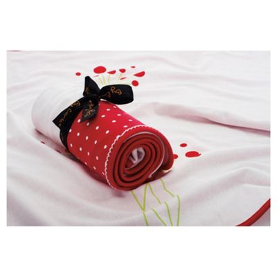 By Carla Spot Blanket Raspberry Bloom Single 100x70cm