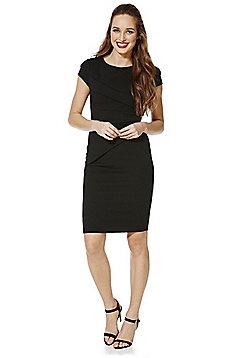 Jessica Wright Vicky Asymmetric Panel Bodycon Dress - Black