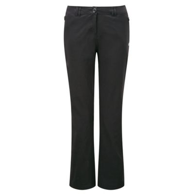 Craghoppers Ladies Kiwi Pro Stretch Trousers Black 18 Short Leg