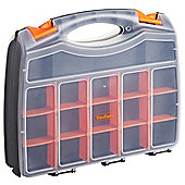 "VonHaus 15"" Double Sided Tool Storage Box Organiser"