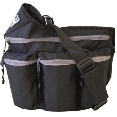 Diaper Dude Original Messenger I Changing Bag Black