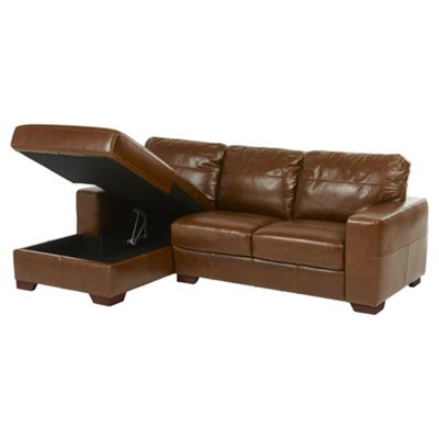 Abbott Left Hand Corner Chaise with Storage, Tan