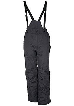 Jasper Mens Snowproof Detachable Braces Salopette Snowboard Ski Pants Trousers - Grey