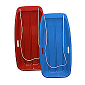Pack of 2 'Snow Speeder' Plastic Sled / Sledge - Blue & Red
