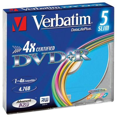 Maplin Colour 5-Pack DVD+R