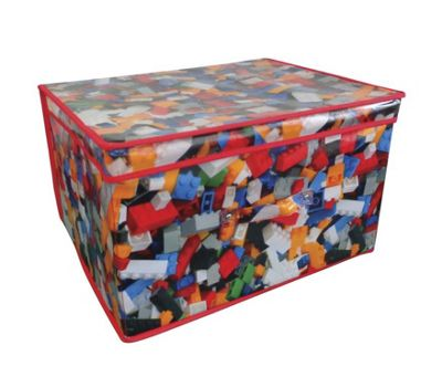 Country Club Jumbo Storage Chest, Bricks Design, 50 x 40 x 30cm