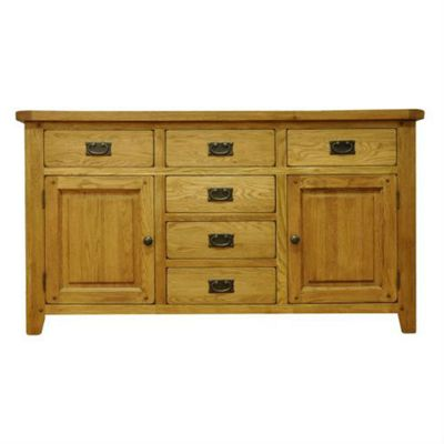 Cambridge Petite Rustic Oak 2 Door 6 Drawer Sideoard