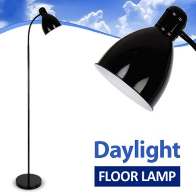 Adjustable Daylight LED Floor Standing Lamp, Black